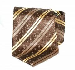 Goldenland nyakkendő - Barna-arany csíkos