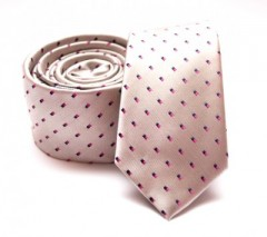 Prémium slim nyakkendő - Arany mintás Kockás nyakkendők