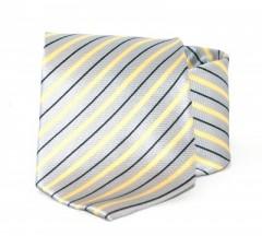 Goldenland nyakkendő - Szürke-sárga csíkos