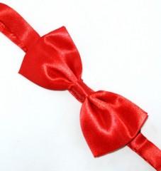 Zsorzsett szatén csokornyakkendő - Piros