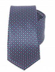 Goldenland slim nyakkendő - Kék kiskockás
