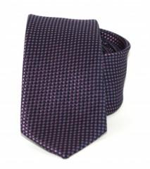 Goldenland slim nyakkendő - Sötétkék mintás