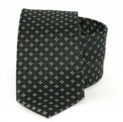 Goldenland slim nyakkendő - Fekete kockás