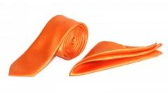 Zsorzsett szatén slim szett - Narancssárga