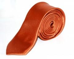 5c64652b7c Szatén slim nyakkendő - Rozsdabarna Apa-fia szett