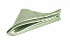 Szatén díszzsebkendő - Halványzöld