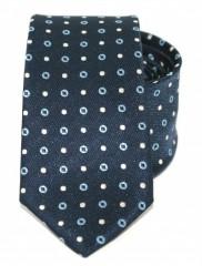 Goldenland slim nyakkendő - Sötétkék pöttyös