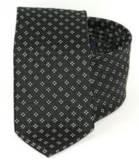 Goldenland slim nyakkendő - Fekete-fehér mintás