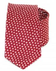 Goldenland slim nyakkendő - Meggypiros mintás