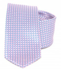 Goldenland slim nyakkendő - Halványlila kockás