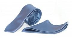 Zsorzsett szatén slim szett - Kék