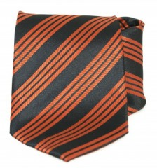 Goldenland nyakkendő - Narancs-fekete csíkos Csíkos nyakkendők
