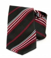 Goldenland slim nyakkendő - Bordó csíkos