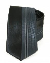 Goldenland slim nyakkendő - Fekete-szürke mintás