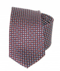 Exkluzív selyem nyakkendő - Bordó mintás