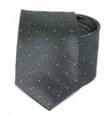 Exkluzív selyem nyakkendő - Szürke pöttyös Aprómintás nyakkendők