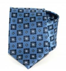 Exkluzív selyem nyakkendő - Kék mintás Selyem nyakkendők