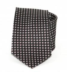 Exkluzív selyem nyakkendő - Fekete mintás Selyem nyakkendők