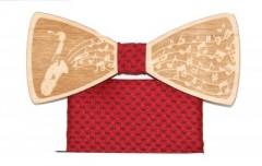 Fa csokornyakkendő szett - Saxofon Csokornyakkendők