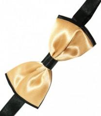 Gyerek szatén csokornyakkendő - Arany-fekete Csokornyakkendők