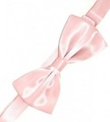 Gyerek szatén csokornyakkendő - Púder rózsaszín Csokornyakkendő
