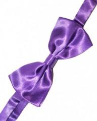 Gyerek szatén csokornyakkendő - Lila Csokornyakkendő