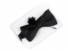 Szatén csokornyakkendő szett - Fekete