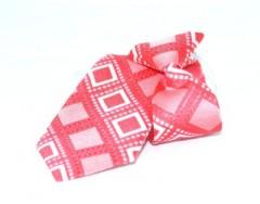Gumis gyereknyakkendő - Lazac kockás Gyerek nyakkendők