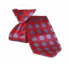 Gumis gyereknyakkendő - Bordó-lila pöttyös Gyerek nyakkendők