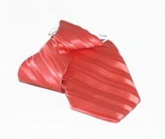 Gumis gyereknyakkendő - Lazac csíkos Gyerek nyakkendők