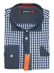 Goldenland hosszúujjú ing - Kék kockás Normál fazon