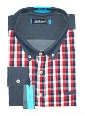 Goldenland extra hosszúujjú ing - Piros kockás Hosszúujjú ingek