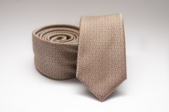 Prémium slim nyakkendő - Aranybarna mintás