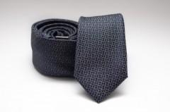 Prémium slim nyakkendő - Sötétkék mintás