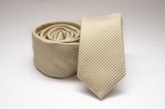 Prémium slim nyakkendő - Halványsárga pöttyös