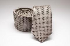 Prémium slim nyakkendő - Arany mintás