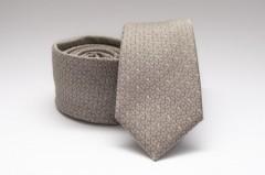 Prémium slim nyakkendő - Drapp mintás