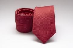 Prémium slim nyakkendő - Meggypiros pöttyös