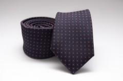 Prémium slim nyakkendő - Sötétkék pöttyös