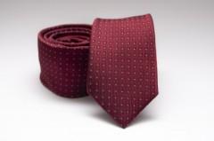 Prémium slim nyakkendő - Meggybordó pöttyös