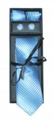 Marquis nyakkendő szett - Kék mintás