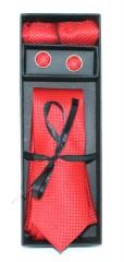 Marquis nyakkendő szett - Piros