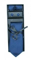 Marquis nyakkendő szett - Kék csíkos