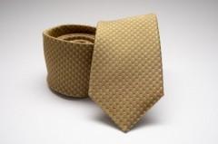 Prémium selyem nyakkendő - Mustár Aprómintás nyakkendők