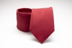 Prémium selyem nyakkendő - Meggypiros pöttyös Aprómintás nyakkendők