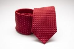 Prémium selyem nyakkendő -  Piros mintás