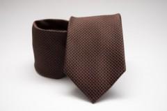 Prémium nyakkendő -  Barna pöttyös Aprómintás nyakkendők