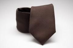 Prémium nyakkendő -  Sötétbarna mintás
