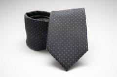 Prémium nyakkendő - Szürke pöttyös Aprómintás nyakkendők