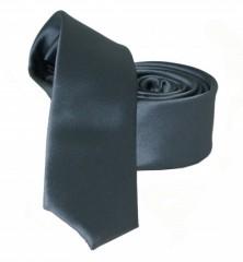 Goldenland slim nyakkendő - Grafitszürke szatén